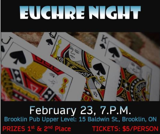 Come Join Us for a Game of Euchre - February 23 at 7pm